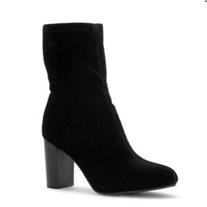 Vince Camuto Sendra Velvet Ankle Sock Booties